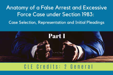 Anatomy of a False Arrest Part 1 CLE