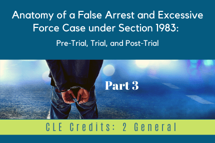 Anatomy of a False Arrest Part 3 CLE
