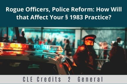 Rogue Officers Police Reform CLE
