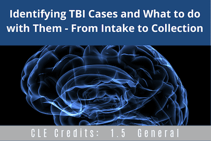 Identifying TBI Cases CLE