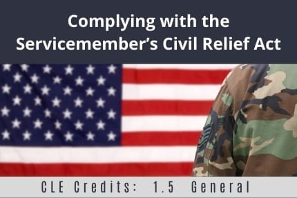 Complying with the service members CLE