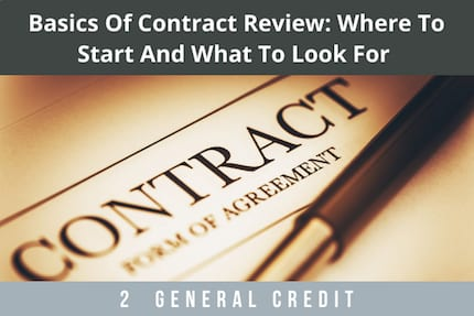 Basics of Contract Review CLE