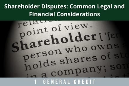 Shareholder Disputes CLE