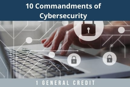 10 Commandments of Cybersecurity CLE