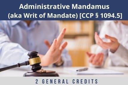 Administrative Mandamus CLE
