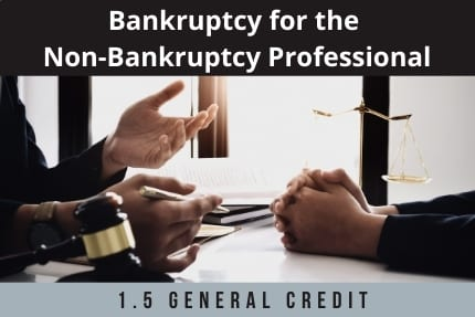 Bankruptcy For The Non-Bankruptcy Professional CLE