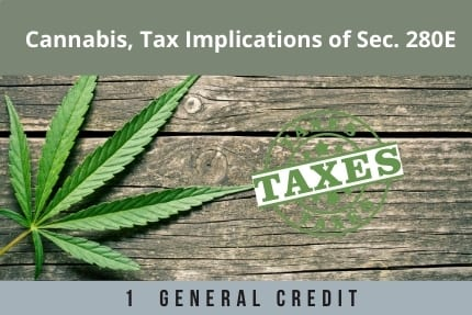 Cannabis Tax Implications CLE