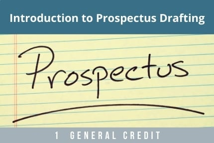Introduction to Prospectus Drafting CLE