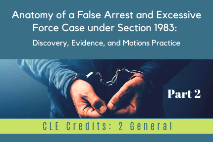 Anatomy of a False Arrest Part 2 CLE
