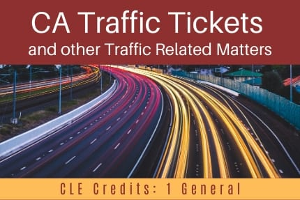 CA Traffic Tickets CLE