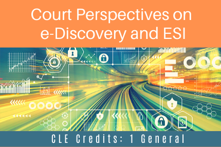 Court Perspectives on e-Discovery and ESI CLE