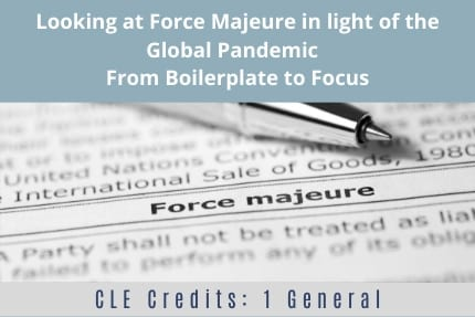 Looking at Force Majeure CLE