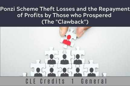 Ponzi Scheme Theft Losses CLE