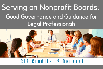 Serving on Nonprofit Boards CLE