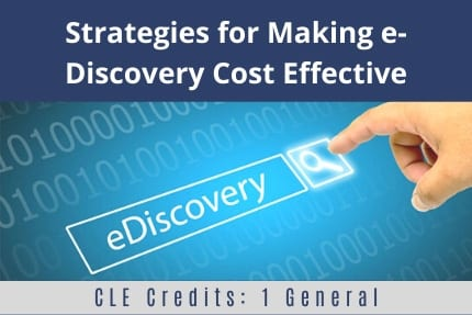 Strategies for Making e-Discovery Cost Effective CLE