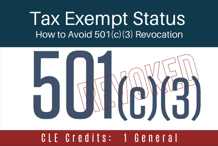 Tax Exempt Status CLE