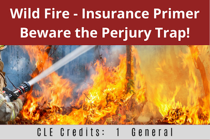 Wild Fire Insurance Primer CLE